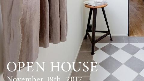 11月18日オープンハウスのお知らせ