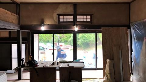 東広島の工事中の古民家再生現場見学会