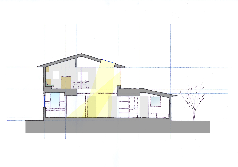 Three huts houseのパース/模型/CG/スケッチなど