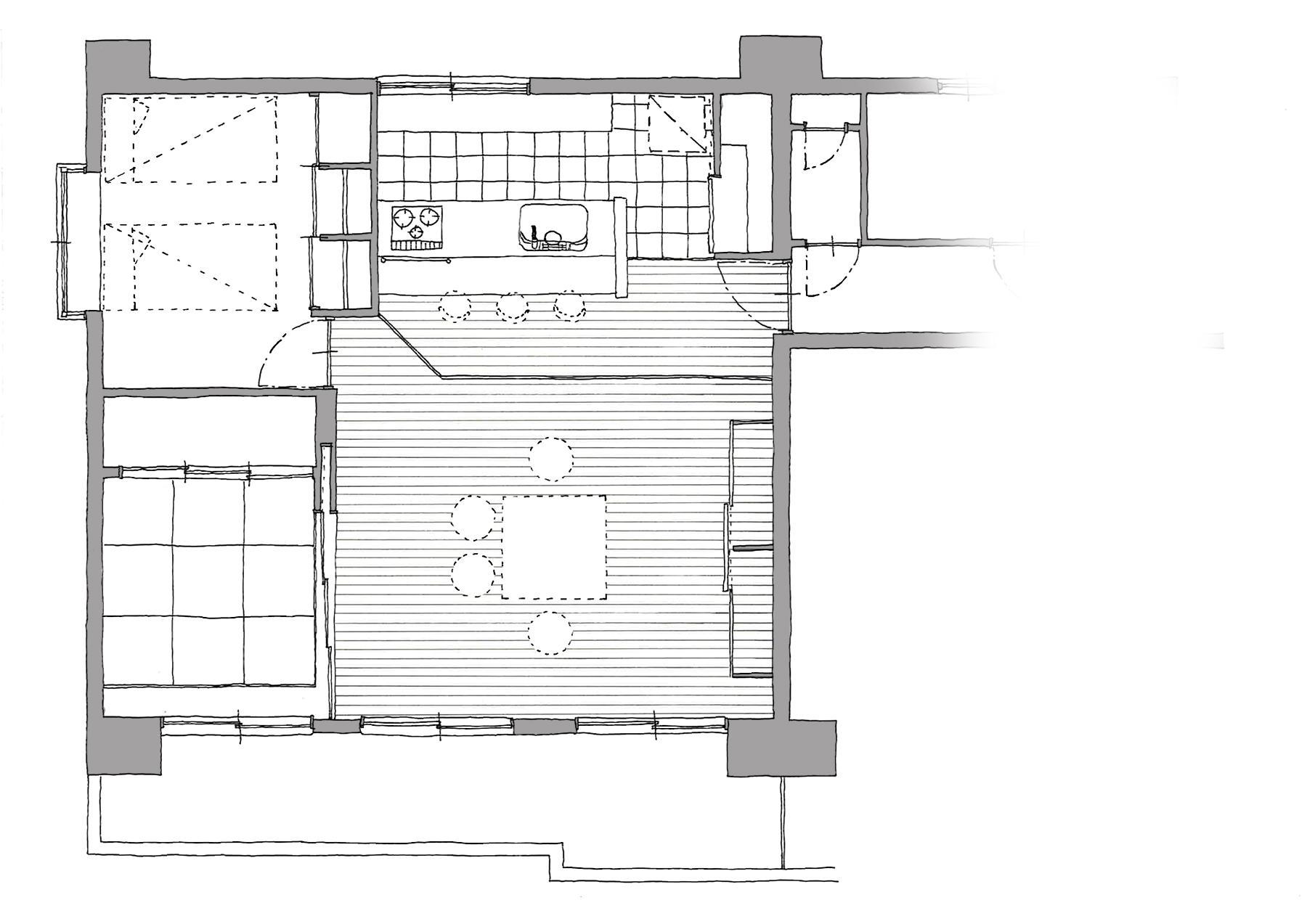 家族構成に合わせたマンションリノベーションの間取図