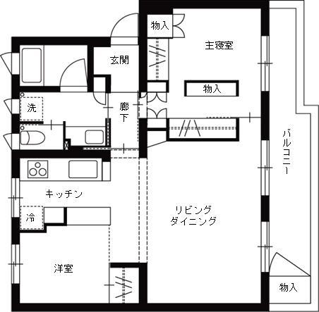理想の住環境でこだわりの大人空間に住まうの間取図