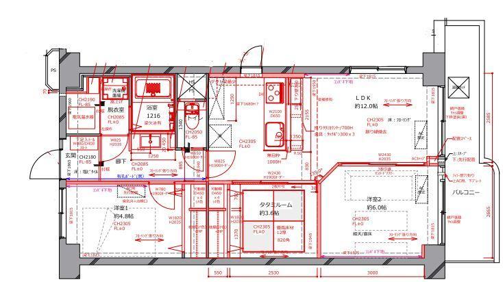 築37年中古マンション×フルリノベーション T様邸の間取図
