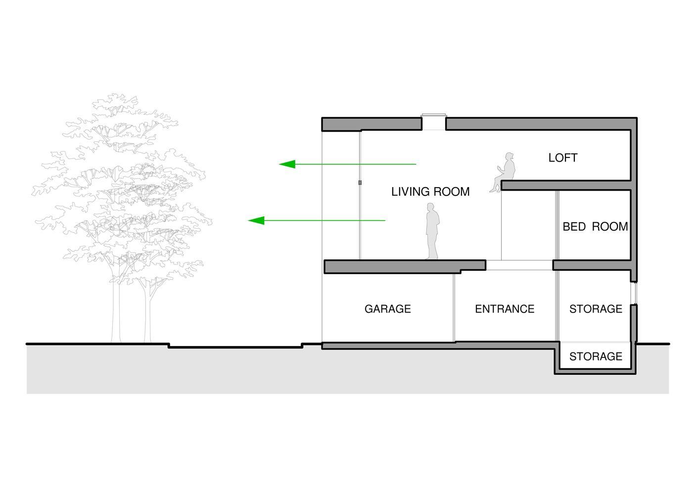 公園の家の間取図