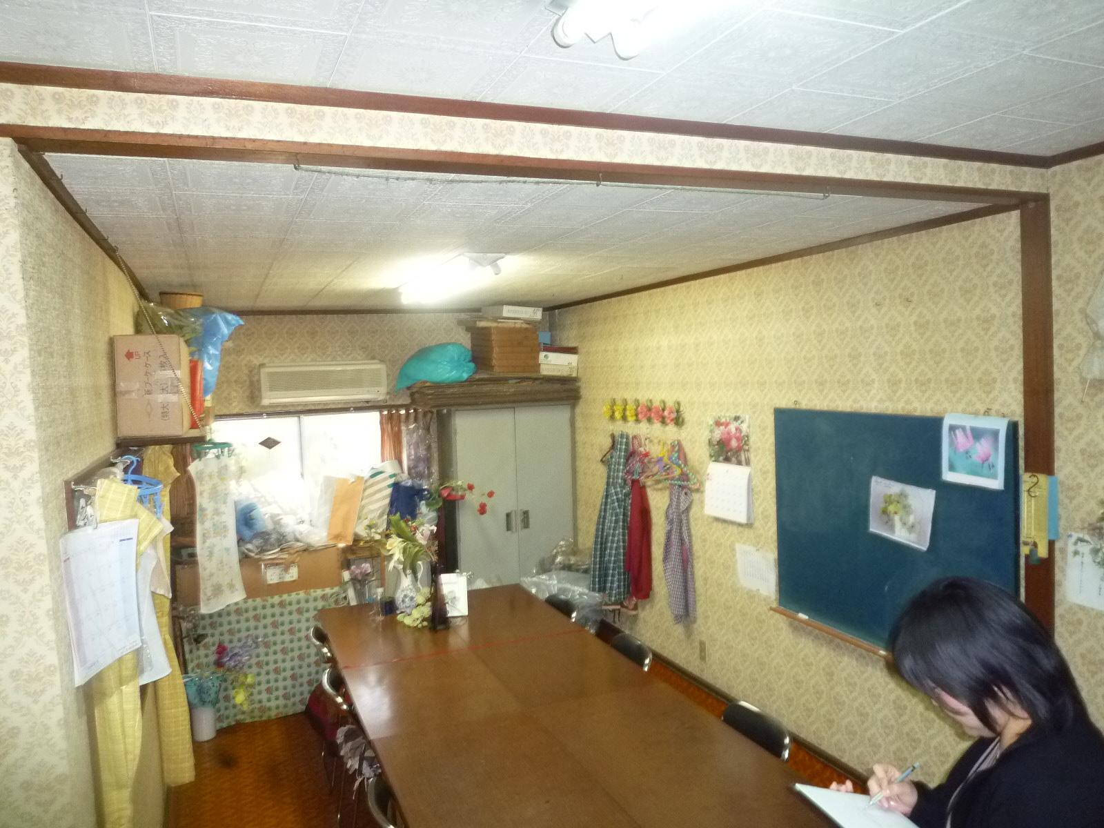 フラワー教室の店舗改修のリノベーション前の写真