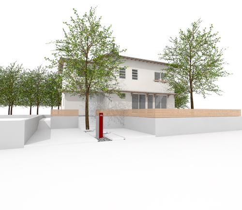 さくら 〜薪ストーブのある木の家〜のパース/模型/CG/スケッチなど