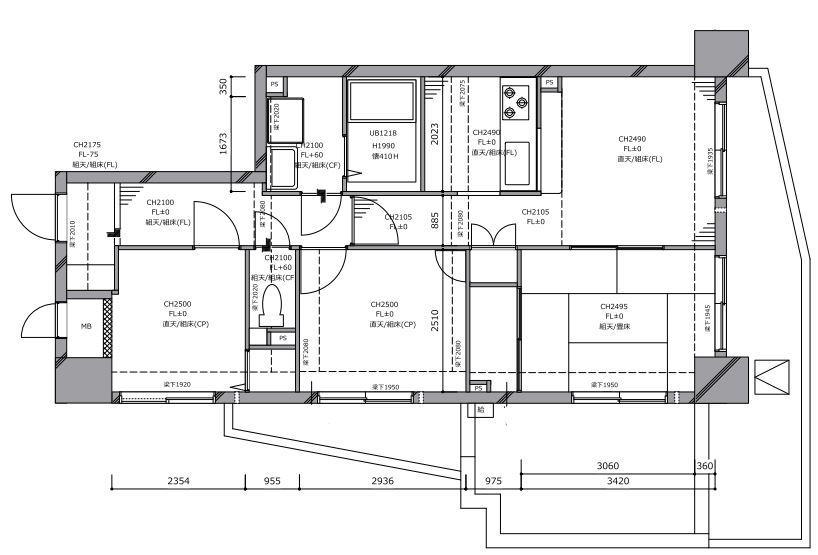 細部までこだわったフルリノベーション M様邸のリノベーション前の間取図