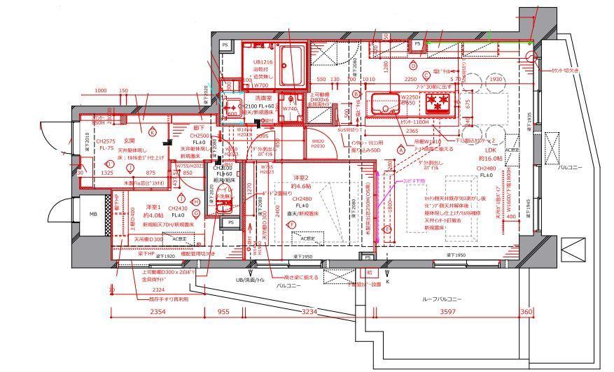 細部までこだわったフルリノベーション M様邸の間取図
