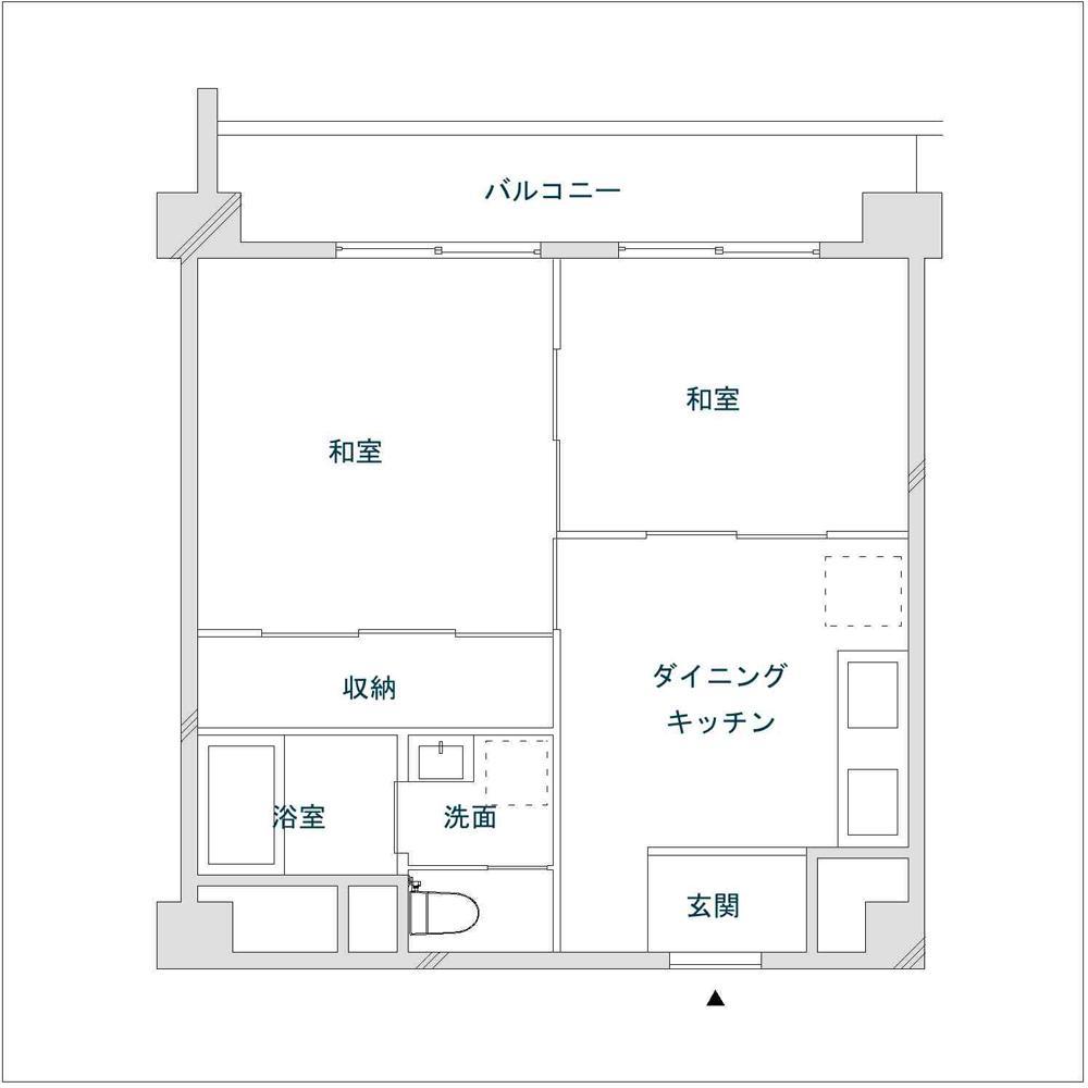 千葉・バスキッチンの家のリノベーション前の間取図