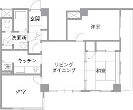 S邸・Shine&colorful HOMEのリノベーション前の間取図