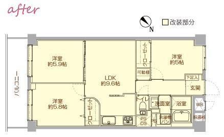 case117・丁寧に仕上げたファミリー向けマンション。の間取図
