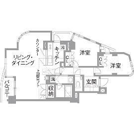 K邸・こだわりの家具と一緒に楽しむ住まいのリノベーション前の間取図