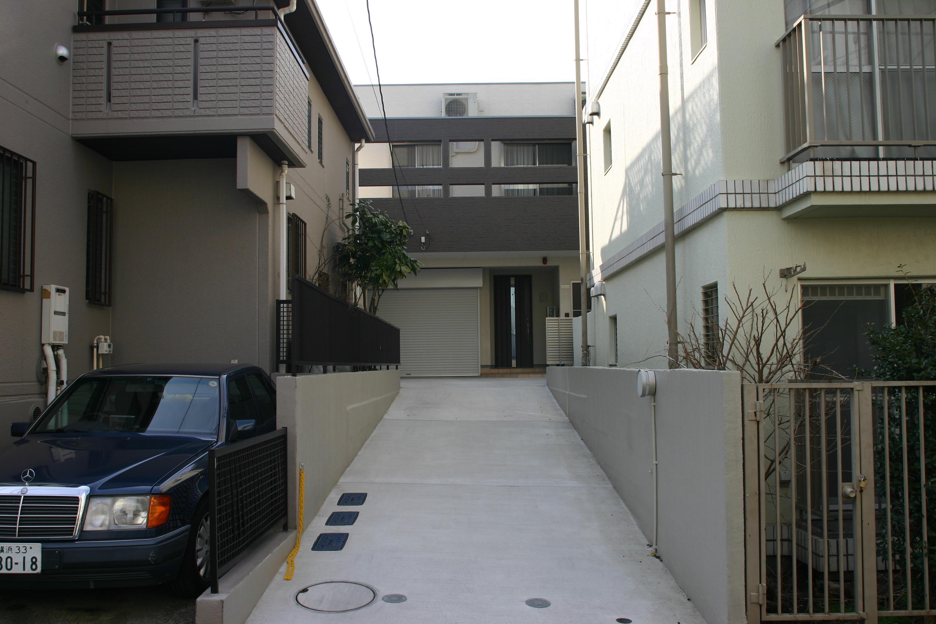旗竿状敷地の住宅の間取図