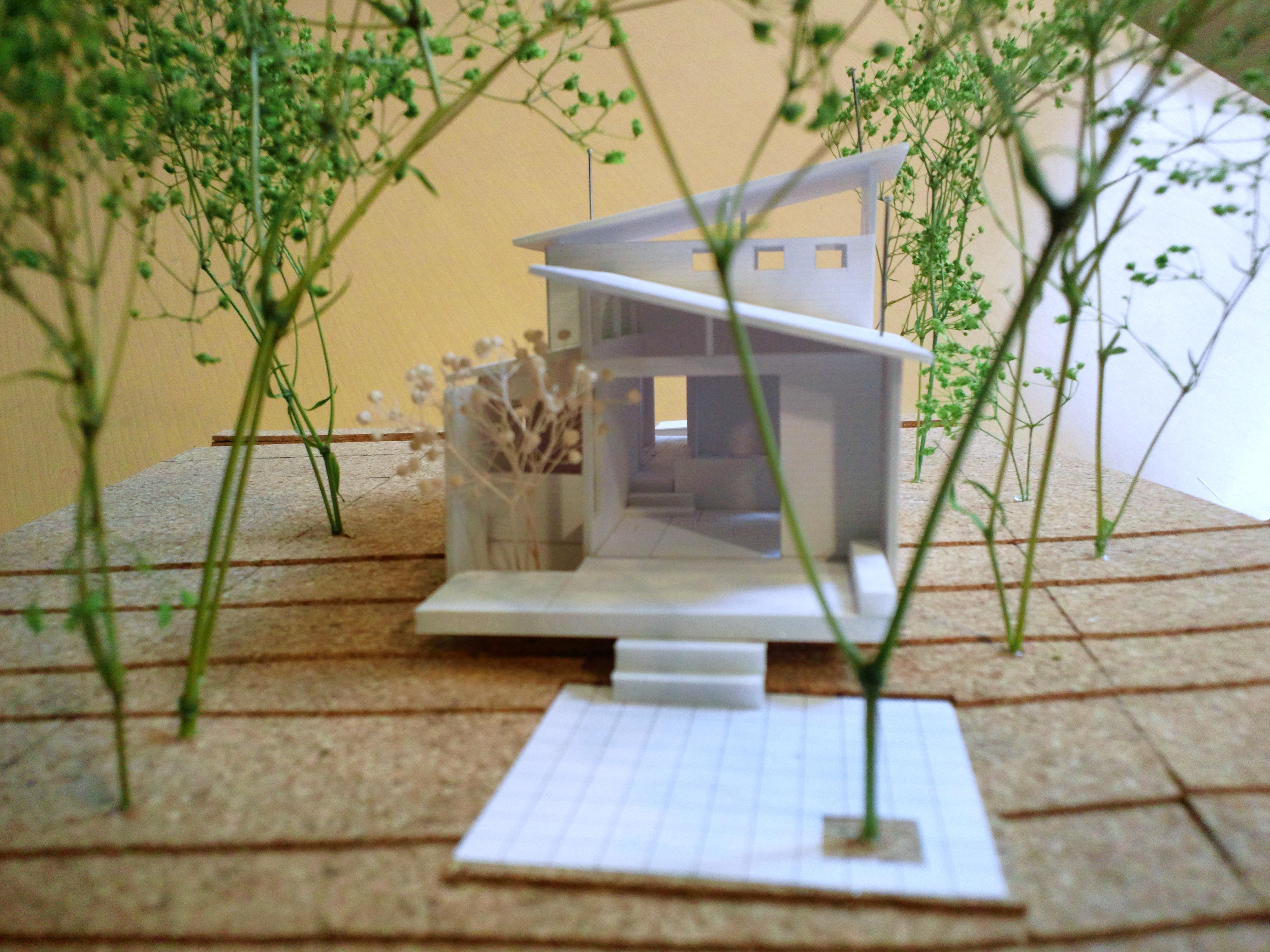 軽井沢の別荘のパース/模型/CG/スケッチなど