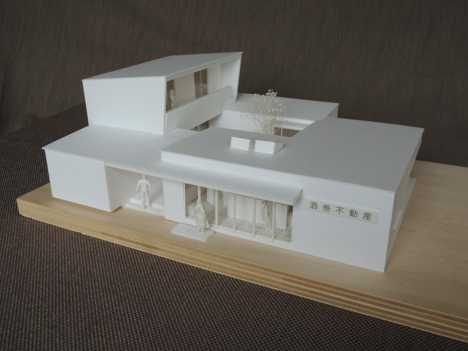 加須の不動産屋さんの家のパース/模型/CG/スケッチなど