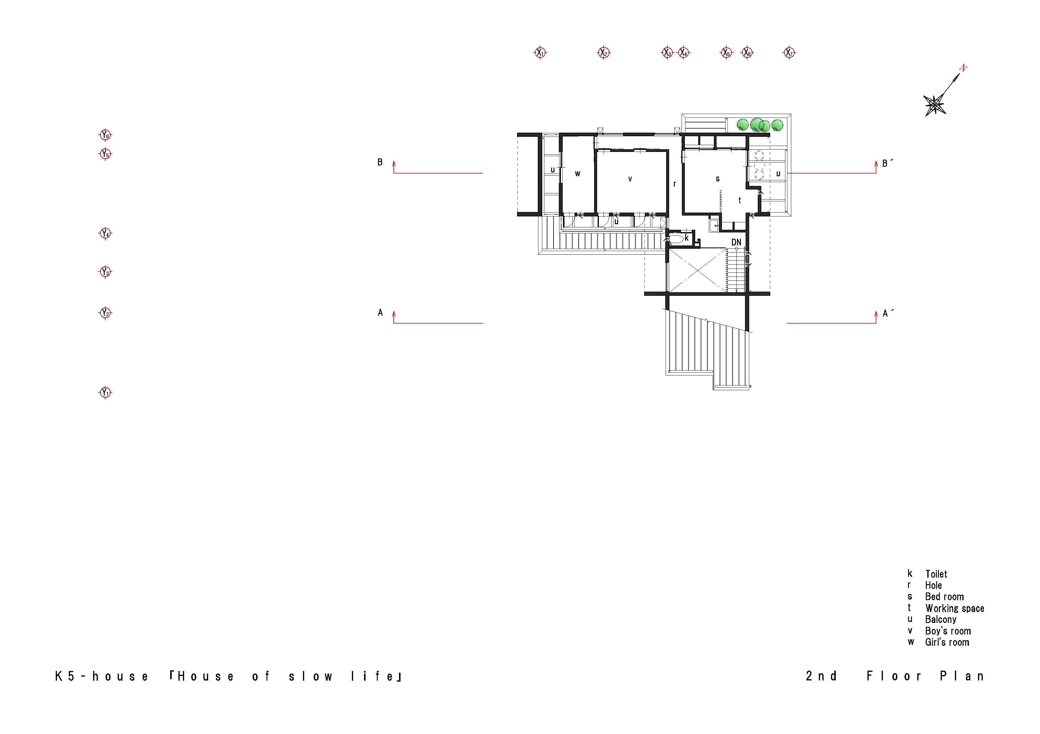 K5-house「スローライフの家」の間取図