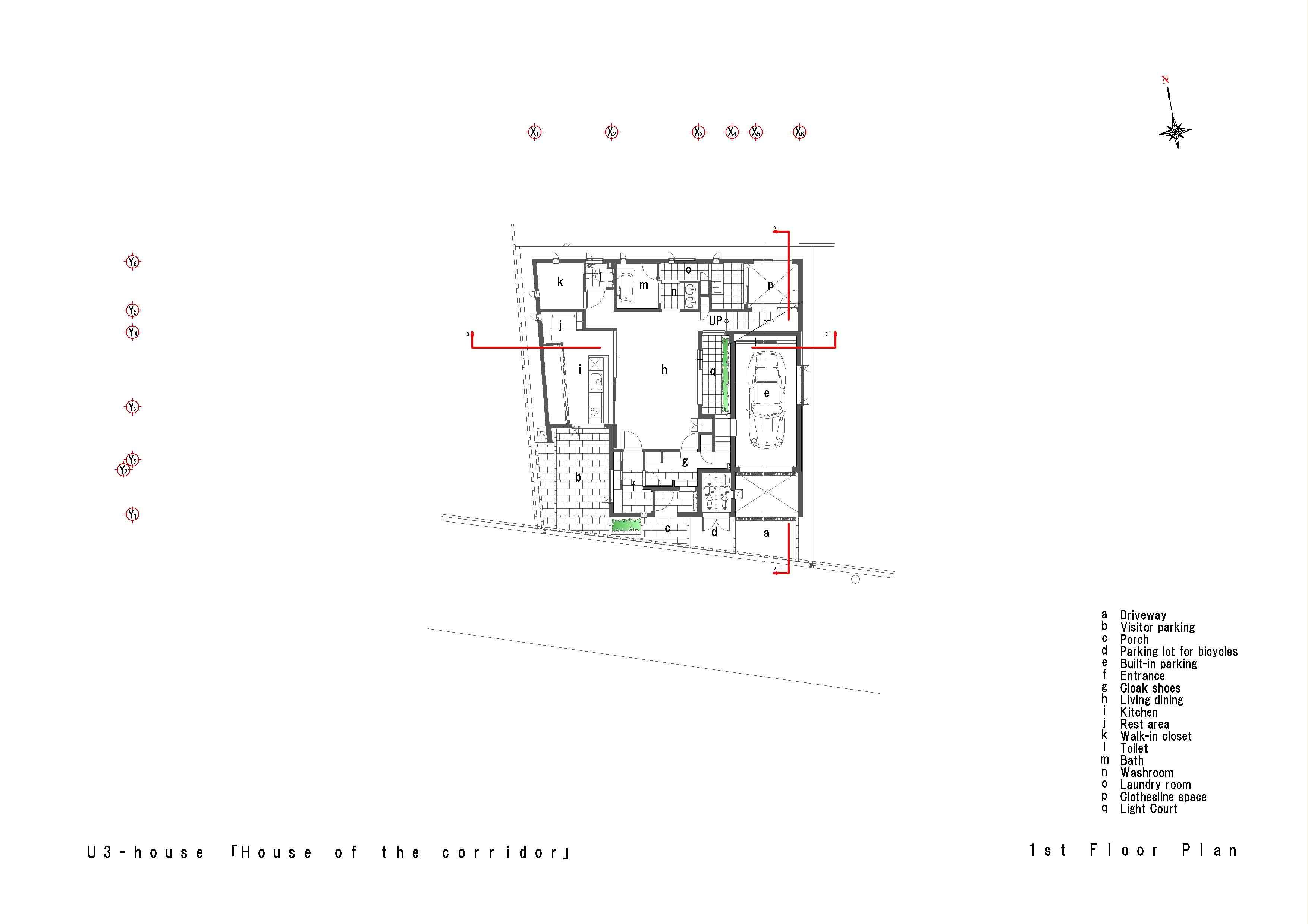 U3-house「回廊の家」の間取図