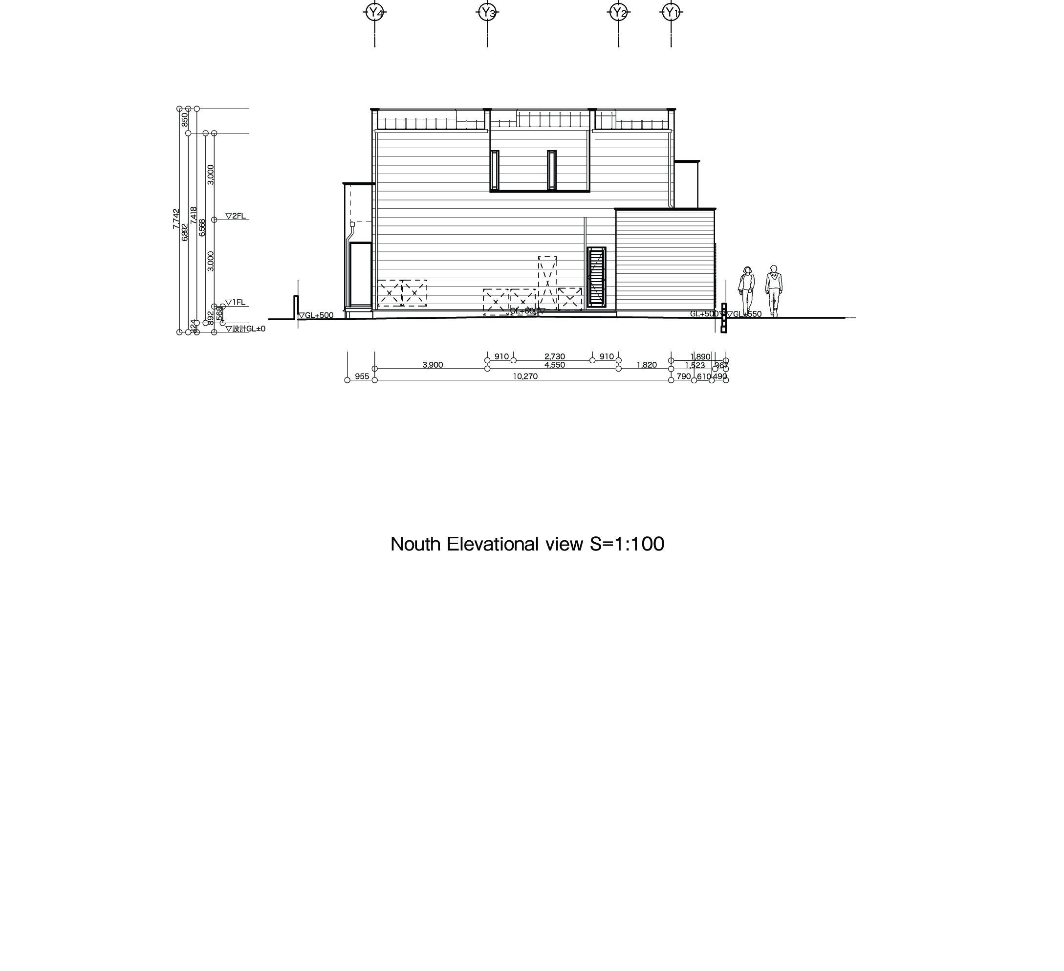 T3-house「ステージのある家」の間取図