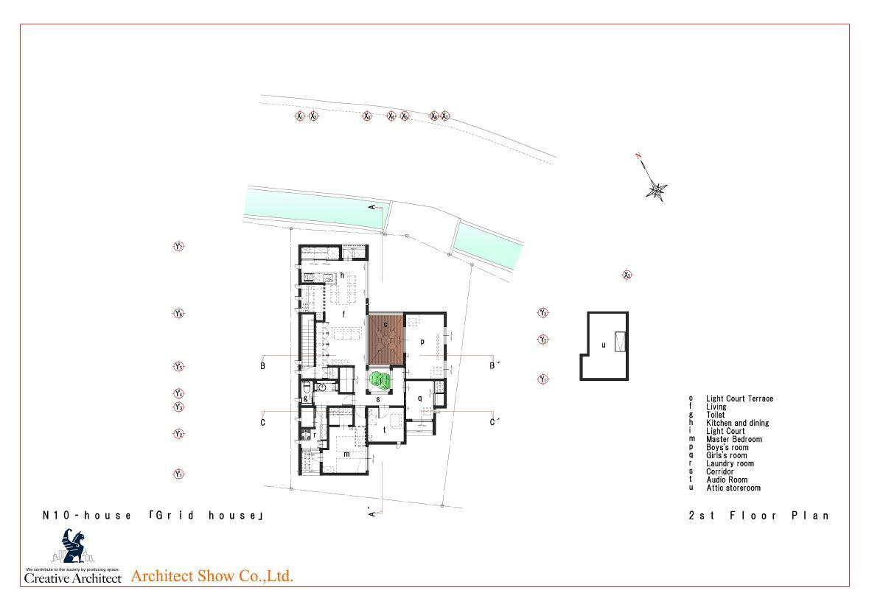 N10-house「グリッドの家」の間取図