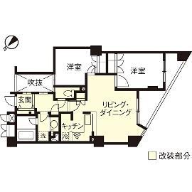 H邸・白のハーモニーで作る二人のこだわり空間の間取図