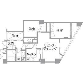 H邸・白のハーモニーで作る二人のこだわり空間のリノベーション前の間取図