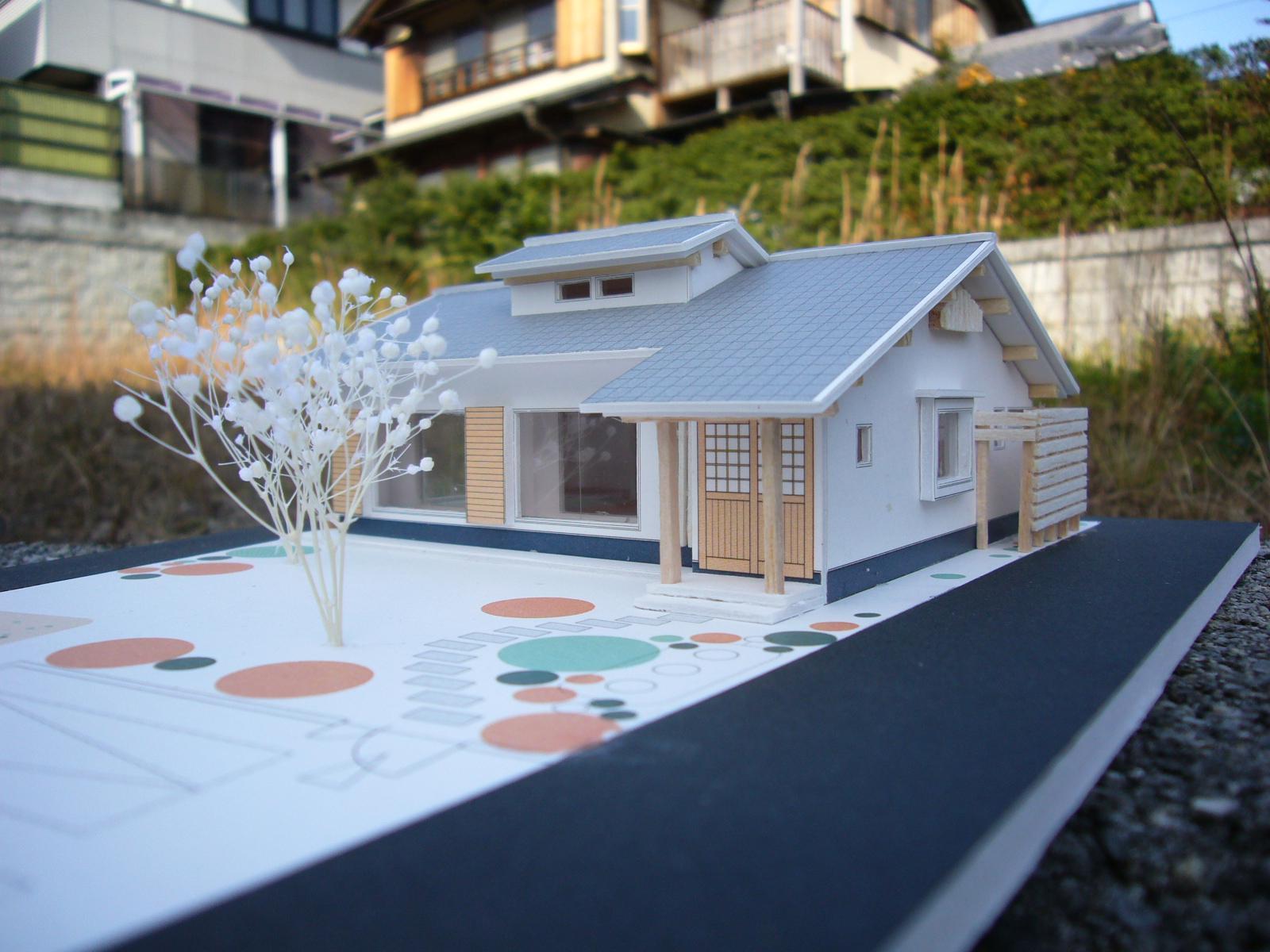 平屋 純和風スタイル 幸せエコ住宅のパース/模型/CG/スケッチなど