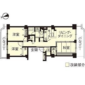 K邸・最大限の空間を確保した上質なインテリアの間取図