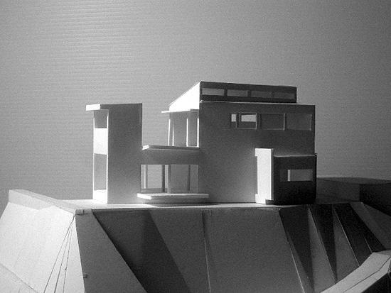 『片瀬山の家2』景色を楽しめる屋上デッキのある住まいのパース/模型/CG/スケッチなど