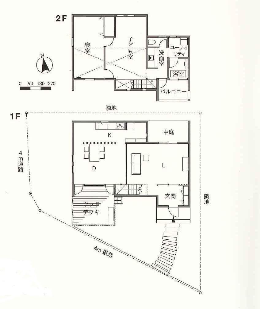 土間リビングの家の間取図