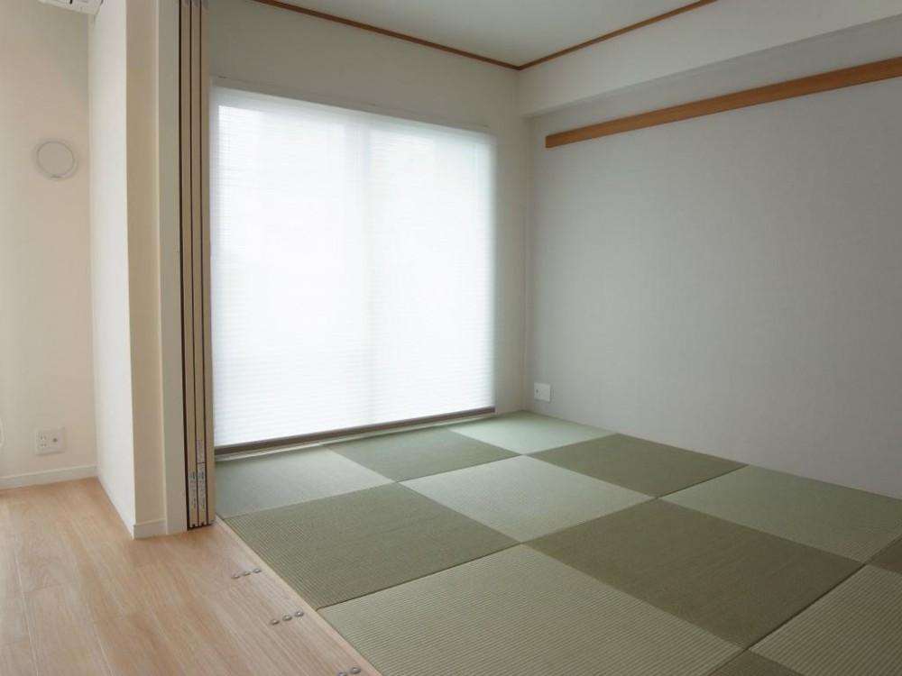 琉球畳のあるホワイトウッドテイスト (和室コーナー)