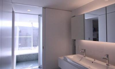 KS邸 (ダブルボウルのある洗面室)