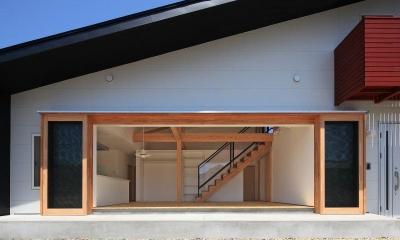 House-S【 ヒトツナガリノイエ 】 (南側より見る)