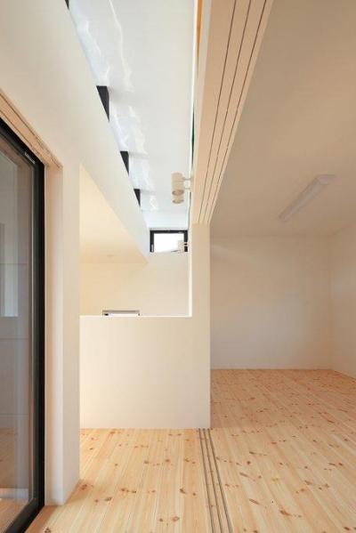 2階廊下にて上部を見る (House-SK【 HB 】)