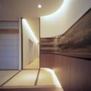 東広島の家の写真 玄関より望む