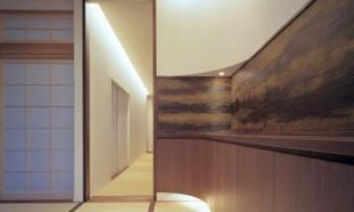 東広島の家 (玄関より望む)