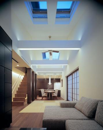 東広島の家の写真 LDKと畳スペース