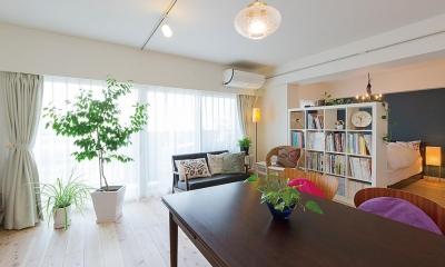 """""""部屋を独立させない""""発想で想像以上の広さと明るさを生み出すマンションリノベーション"""