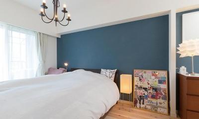 """""""部屋を独立させない""""発想で想像以上の広さと明るさを生み出すマンションリノベーション (寝室)"""