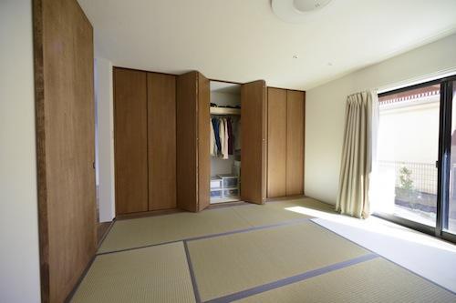 はぐみのいえの部屋 クローゼットのある和室