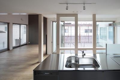 家事となかよしになるいえの部屋 キッチンからの眺め