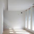 明かり取り窓が光を与える部屋