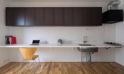 シンプルなワンルームマンション|Dias #102|大きなカウンターのある賃貸マンションリノベーション【大阪市東住吉区】