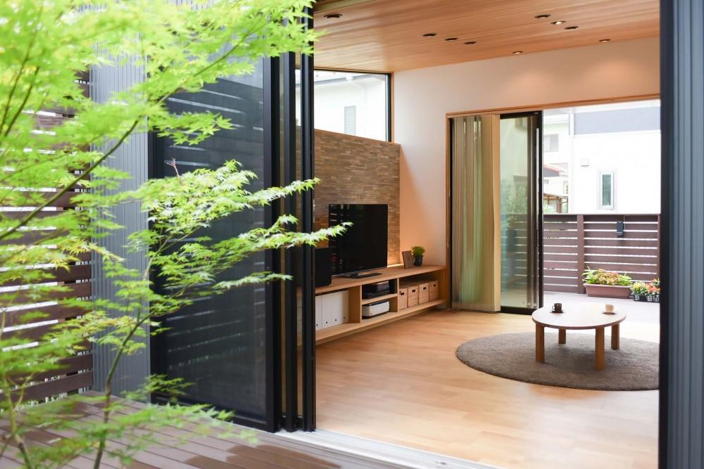 埼玉県北鴻巣の家 (中庭から 1)
