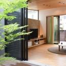 埼玉県北鴻巣の家の写真 中庭から 1