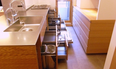 千葉県船橋市Oさんの家 (収納豊富なオーダーメイドキッチン)