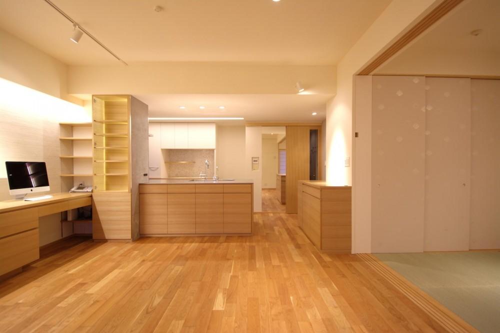 千葉県船橋市Oさんの家 (柔らかな色が落ち着きをもたらすLDK)
