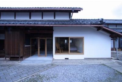 築80年の古民家を神秘性を残しながらリノベーションした外観 (古民家再生|久田邸)