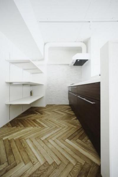 中古マンションリノベーション|Y様邸 (収納のあるシンプルなキッチン)