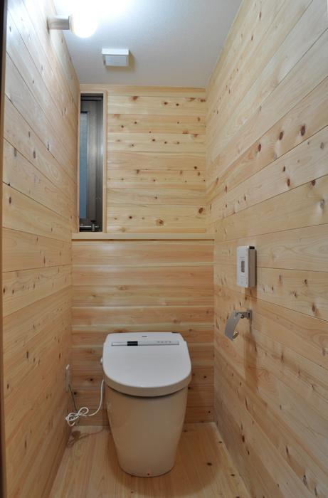 杉板・珪藻土によるリフォーム その2 (トイレ)