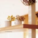 柱を有効活用した棚