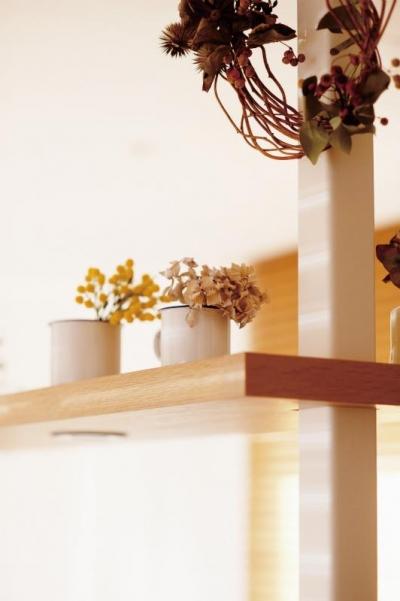 柱を有効活用した棚 (wanも楽しいリフォーム2)